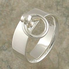 "Sterling Silver or White Gold ""O"" Ring"