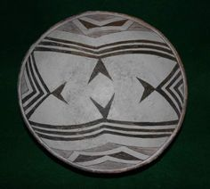 """7N Mimbres Classic Black-on-White Geometric Bowl    Approximate Dimensions: 10 3/8 """" by 5"""