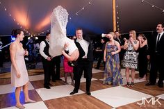 Upside down bride! THIS is the sign of a good wedding band!! (Attraction, Richmond VA) www.jmk-photos.com