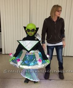 Cool Homemade UFO Alien Costume for a Boy