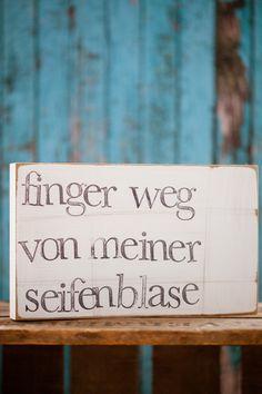 """Bilderrahmen - Text Wandbild """"Seifenblase"""" aus Holz - ein Designerstück von iopla bei DaWanda"""