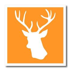 3dRose ht_179701_3 White Stag Head Silhouette on Orange Country Deer with Antlers Iron on Heat Transfer, 10 by 10-Inch, For White Material 3dRose http://www.amazon.com/dp/B00IT7IL2U/ref=cm_sw_r_pi_dp_BNi9ub0WFXQGB