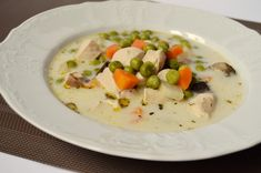 Tarragon Chicken, Lemon Mousse, Chicken Soup, Cheeseburger Chowder, Soup Recipes, Hummus, Risotto, Breakfast
