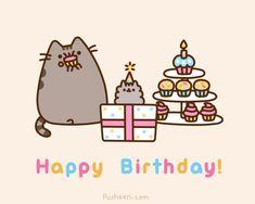 pusheen cat happy birthday