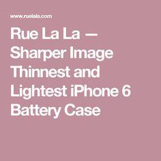 Rue La La — Sharper Image Thinnest and Lightest iPhone 6 Battery Case