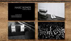 Diseño de las tarjetas de visita del fotógrafo Marc Romer. Para el anverso utilizamos varías fotografías del artista.