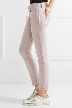 Current/Elliott - The Stiletto Cropped Mid-rise Skinny Jeans - Lilac - 25