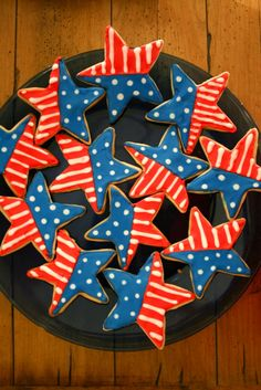 4th of july star cookie - Google Search