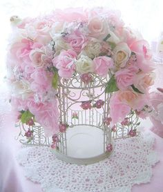 Romantic Rose Bird Cage