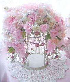 Romantic Rose Bird Cage