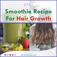 Smoothie Recipe For Hair Growth | Soft, Shiny Hair - Beauty Tips By Nim