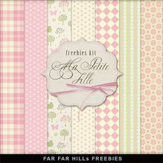 New Freebies Kit of Backgrounds - Ma Petite Fille