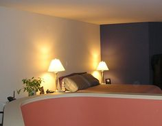 fun splash of color in the master bedroom #paint More