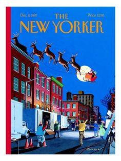 The New Yorker Cover - December 8, 1997 Poster Print by Bruce McCall at the Condé Nast Collection