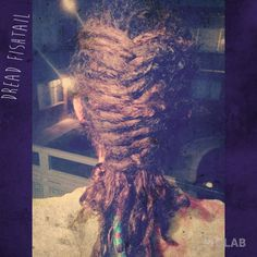 Oh yeah dread fishtail braid! Getting better and better at this!