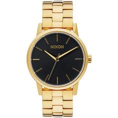 Nixon Wrist Watch ($225) ❤ liked on Polyvore featuring jewelry, watches, black, black wrist watch, nixon jewelry, kohl jewelry, nixon watches and nixon