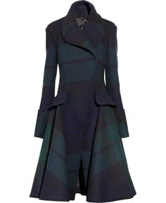A coat similar to the one the Duchess of Cambridge wore to her old school. Both are by Alexander McQueen
