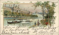 """World's Fair St. Louis 1904 #postcard of the Main Lagoon.  NOTE: interest in the World's Fair runs high - Forest Park Community College has a continuing education class called """"Re-Living the 1904 World's Fair."""""""