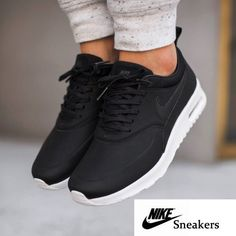 Nike Air Max Thea Black Premium Leather Sneakers •The Nike Air Max Thea Womens Shoe is equipped with premium lightweight cushioning and a sleek, low-cut profile for lasting comfort and understated style. •Women's size 9, true to size. •NO TRADES/PAYPAL/MERC/VINTED/NONSENSE. Nike Shoes Sneakers