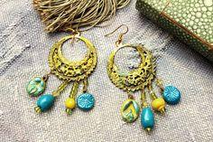 Boucles d'oreilles gypsy-bohème chandelier à par MesOdalisques