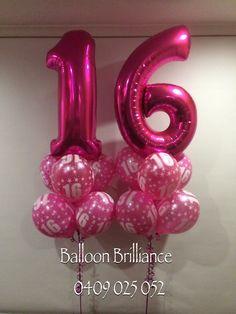 Happy 16th Birthday Sophia Balloonnumbers Pinkballoonnumbers 16thbirthdayballoons Balloondeliverycanberra Sendballoonscanberra Act Cbr