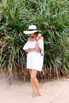 DIY: off the shoulder beach dress