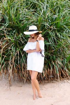 DIY White Beach Dress