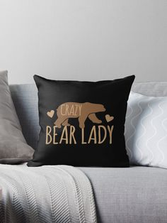 Crazy Bear lady • Also buy this artwork on home decor, apparel, stickers, and more. Super cute design for birthday presents, gifts and Christmas from RedBubble and jazzydevil designz. (Also available in mugs, cups, shirts, duvet covers, acrylic block, purse, wallet, iphone cases, baby onsies, clocks, throw pillows, samsung cases and pencil skirts.)
