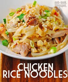 Ooh, Look...: Chicken rice noodles from Asian-inspired surrounds