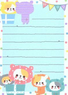 kawaii bears in costumes mini Memo Pad  5