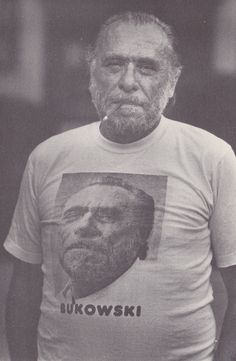 Charles Bukowski - I dare you to find me a better author photo.