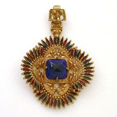 Castlecliff Larry Vrba 1970s Pre-Colombian Collection Large Pendant from Industrial Blonde Exclusively on Ruby Lane