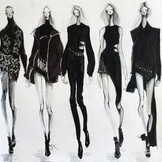 Fashion illustration - fashion design sketches // Jeanette Getrost