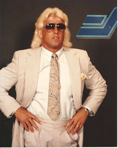 Image result for ric flair suit and tie 80s