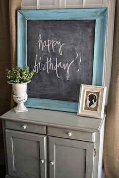 Chalk board  #AspenHeights #decor