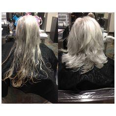 April 5, 2017, I Cut A 90 Degree Haircut Up To Shoulder Length.