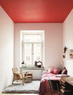 Våga måla taket i en annan kulör än vit.