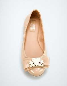 BALLERINA WITH BOW AND GEMS - Shoes - Girl (2-14 years) - Kids - ZARA United States