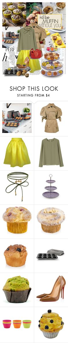 """""""I'd be Muffin Without You"""" by la-belle-folie ❤ liked on Polyvore featuring Whiteley, Improvements, Simone Rocha, Plakinger, MANGO, Accessorize, Fitz & Floyd, Calphalon, Christian Louboutin and Lékué"""