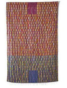 """ENTRANCE/EXIT  Adela Akers  linen, horsehair  and metal  68"""" x 42""""  172.75cm x 106.75cm"""