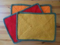 Rectangular Crochet Placemat Autumn Colors - Tutorial - YouTube