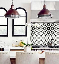 These Moroccan Agadir Tile Stickers would make a great backsplash and add a nice dose of pattern to a small-space kitchen.