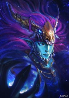 Aurelion Sol , David Pan on ArtStation at https://www.artstation.com/artwork/6BQ2x