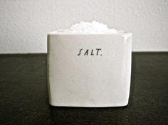 square SALT cellar by raedunn on Etsy, $24.00, featured in Martha Stewart Magazine, love her pieces