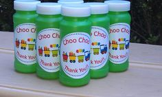 Party Favors: Choo Choo Thank You Bubbles