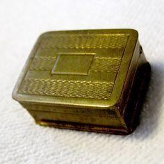 RARE Vintage Small Volupte Pill Snuff Box Brass USA Christmas Gift Antique Old   eBay