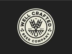 Smart and Beautiful Logo Design by Spoonlancer Beer Logo Design, Round Logo Design, Brewery Design, Vintage Logo Design, Badge Design, Branding Design, Vintage Logos, Logo Desing, Graphic Design