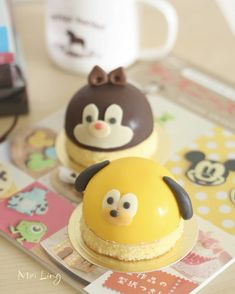 Pluto & chipndale dome cakes by meiling (@mei_ling22)