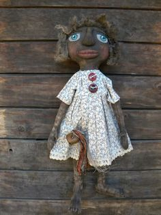 Sarah  Black Primitive Doll  Primitive by nancyprimitivedolls ~ I just love her!!!