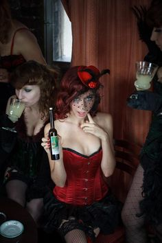 """Our Burlesque friends in Poland did a great work with our """"Grüne Fee"""" Absinthe Collection. www. Kraut, Burlesque, Poland, Palette, Friends, Collection, Amigos, Boyfriends, Pallets"""